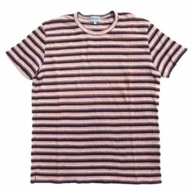 【中古】美品 90's ケンゾーオム KENZO HOMME コットン ボーダー Tシャツ カットソー 半袖 ストレッチ  サイズF