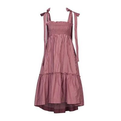 パロッシュ P.A.R.O.S.H. 7分丈ワンピース・ドレス ピンク S コットン 100% 7分丈ワンピース・ドレス