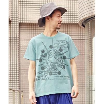 (CAYHANE/チャイハネ)【チャイハネ】洋輔×Amina 月雲メンズTシャツ CAS-1203/メンズ ブルー