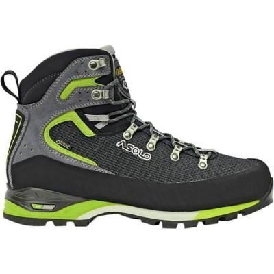 アゾロ シューズ メンズ ハイキング Corax GV Backpacking Boot - Men's Black/Green Lime