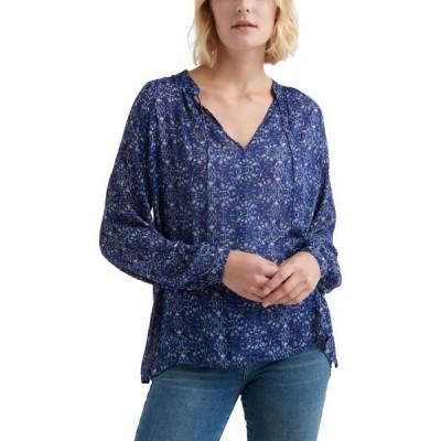 レディース 衣類 トップス Lucky Brand Womens Peasant Top Blue XS ブラウス&シャツ