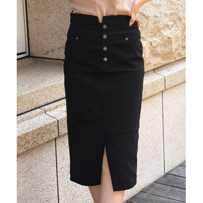 JULIA BOUTIQUE / ハイウエスト4連ボタンスリットタイトスカート/20591 WOMEN スカート > スカート