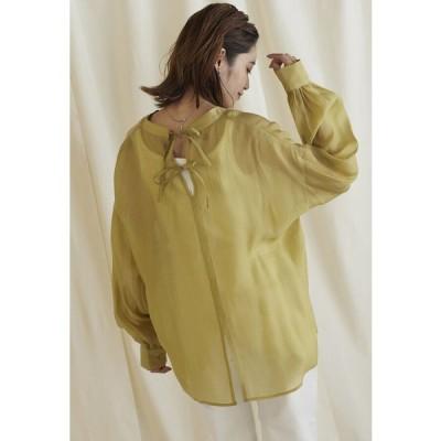 LIPSTAR / 【WEB別注カラーあり】シアーバックスリットシャツ