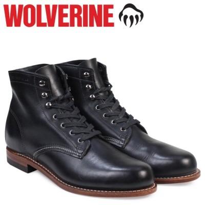 WOLVERINE 1000マイル ブーツ ウルヴァリン メンズ 1000 MILE BOOT Dワイズ W05300 ブラック 黒 ワークブーツ