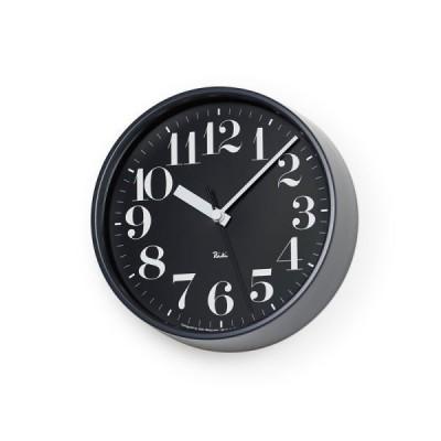 掛け時計 電波時計 北欧 シンプル レムノス RIKI STEEL CLOCK RC WR0825(BK) 音なしのスイープムーブ
