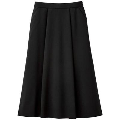 Aラインスカート(吸汗速乾・UVカット・防しわ機能・洗濯機OK)/ブラック/LL