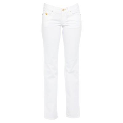 EUROPEAN CULTURE パンツ ホワイト 30 コットン 98% / ポリウレタン 2% パンツ