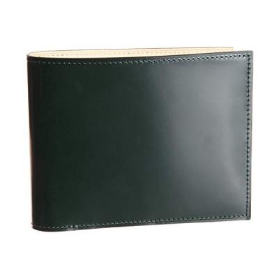 フライングホース/FLYING HORSE 二つ折り財布 コードバン レザー使用 財布 メンズ (グリーン)