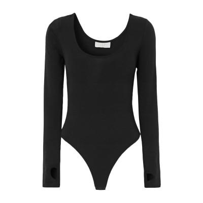 CALÉ T シャツ ブラック XL レーヨン 48% / コットン 47% / ポリウレタン 5% T シャツ