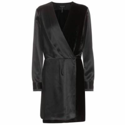 ラグandボーン Rag and Bone レディース ワンピース ワンピース・ドレス Victor satin and velvet dress Black