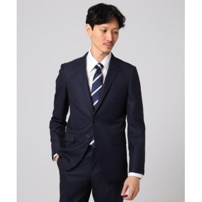 【タケオキクチ】 シャイニーヘリンボンストライプ ジャケット メンズ ディープネイビー 03(L) TAKEO KIKUCHI