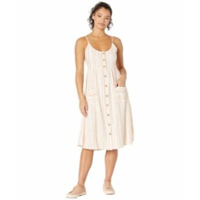 ロキシー レディース ワンピース トップス Glowing Wave Yarn-Dye Dress Golden Ochre St