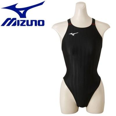 ミズノ 水泳 ストリームアクセラ ハイカット 水着 レディース ジュニア N2MA842196 返品不可