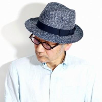 GALLIANO SORBATTI 帽子 ストローハット イタリア製 ペーパーブレード メンズ 大きいサイズ 夏 レディース ワイド 中折れハット 春 麦わ