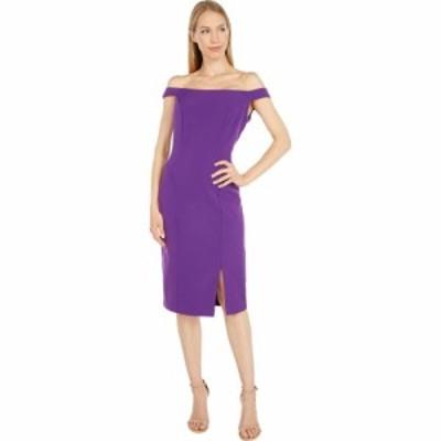 マリナ MARINA レディース ワンピース ワンピース・ドレス Stretch Crepe Off Shoulder Violet