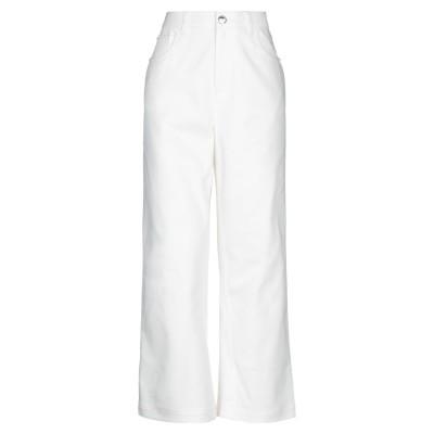 フェンディ FENDI パンツ ホワイト 42 コットン 97% / ポリウレタン 3% パンツ