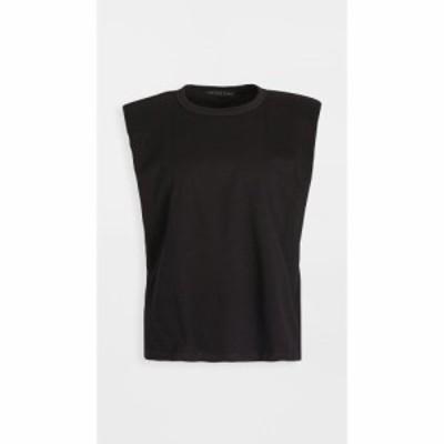 エンドレスローズ endless rose レディース Tシャツ トップス Padded Shoulder T-Shirt Black