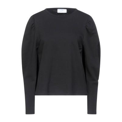 SOALLURE スウェットシャツ ブラック M コットン 100% スウェットシャツ