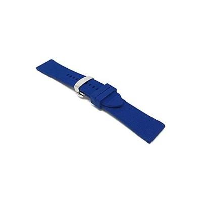 Bandini シリコン時計バンド - ソフトラバー交換用時計ストラップ - メッシュ、格子柄 - 防水 - ステンレススチール展開バックル - 多く