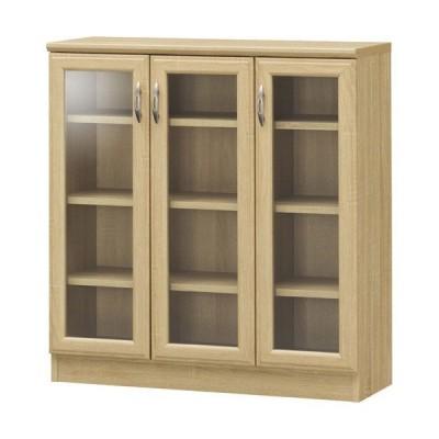 キャビネット サイドボード 戸棚 本棚 食器棚 ホノボーラ 幅84cm 高さ88cm ガラスキャビネット 収納棚 棚 カップボード おしゃれ