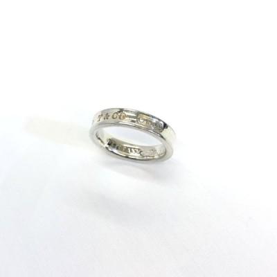 中古 TIFFANY&Co. ティファニー リング ナロー シルバー Ag925 1837 約6号相当 指輪 RYB9403