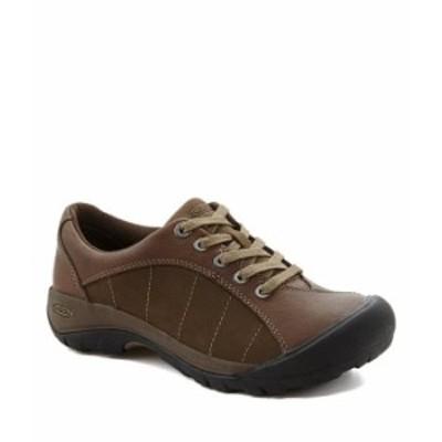 キーン レディース スニーカー シューズ Women's Presidio Leather and Suede Lace-Up Sneakers Cascade Brown/Shitake