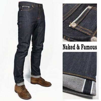 カナダ発 岡山産デニム使用Naked & Famous(ネイキッド アンド フェイモス) スキニー ヴィンテージ リジット 生デニム 送料無料