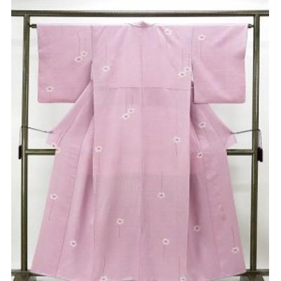 小紋 正絹 染色作家 斉藤上太郎作 身丈157cm 裄丈63cm 小紋 美品 リサイクル 着物