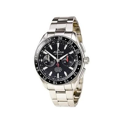 Alpina 4 Chronograph Automatic Black Dial Steel Mens Watch AL-860B5AQ6B 並行輸入品
