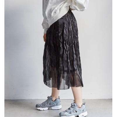 【アンレリッシュ/UNRELISH】 シャイニーギャザースカート