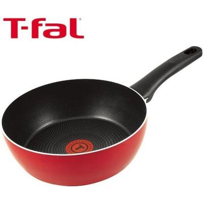 T-fal(ティファール)フェアリーローズ ディープパン(深めフライパン)22cm ガス火専用 C50083