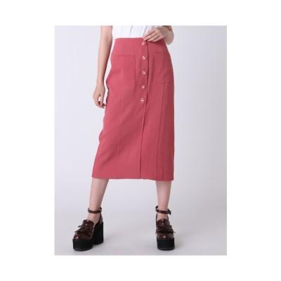 dazzlin レトロボタンタイトスカート ピンク