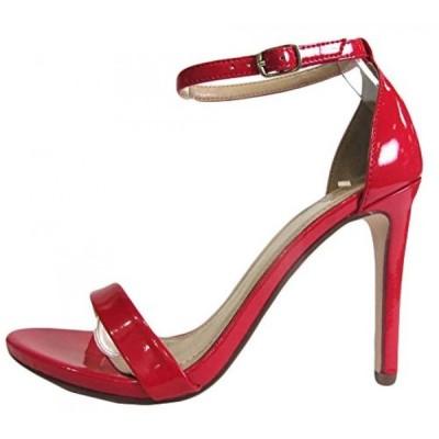 デリシャス レディース パンプス Delicious Women's Jaiden Faux Nubuck Leather Wide Strap Single Sole Heels 4