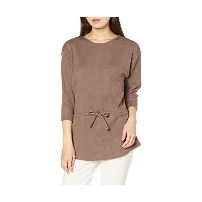 ナチュラルビューティーベーシック Tシャツ レディース ブラウン M