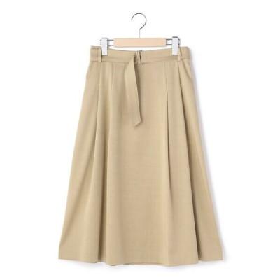 KEITH Lサイズ/キースエルサイズ スプリングサージ スカート ブラウン 44