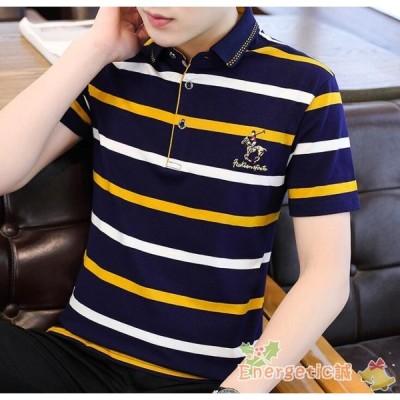ポロシャツ メンズ 半袖 父の日 夏 ギフト ゴルフウェア POLO ポロシャツ チェック ストライプ ゴルフシャツ メンズ 半袖 夏物 スポーツウェア プレゼント