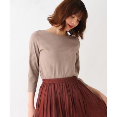 grove / ライクラ×スーピマ7分袖プルオーバー WOMEN トップス > Tシャツ/カットソー