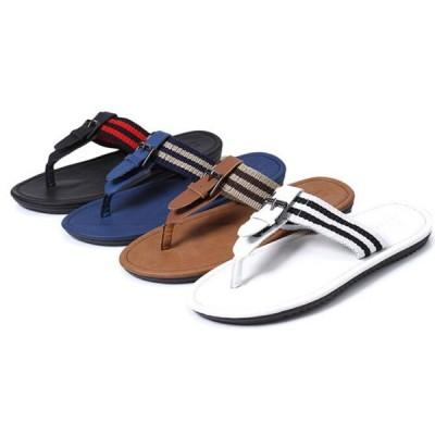 メンズ男性ビーチサンダル 軽量 快適 柔らかい スタイリッシュ サンダル  海・プール・ビーチ アウトドア サーフィン マリンスポーツ 滑り止め全4色