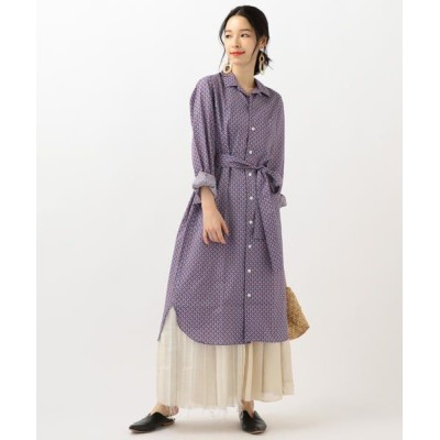 SHIPS for women/シップスウィメン James Mortimer:リバティープリントワンピース ロイヤルブルー ONE SIZE