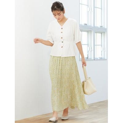 小花柄プリーツフレアスカート ES21S0198