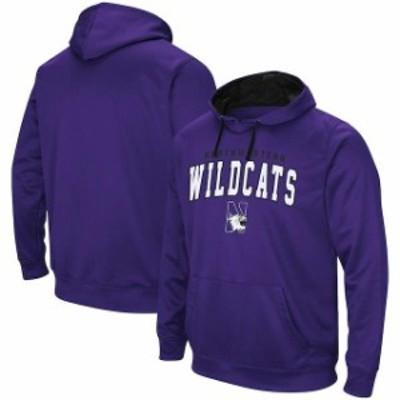 Colosseum コロセウム スポーツ用品  Colosseum Northwestern Wildcats Purple Mascot Logo Performance Pullover Hoodie