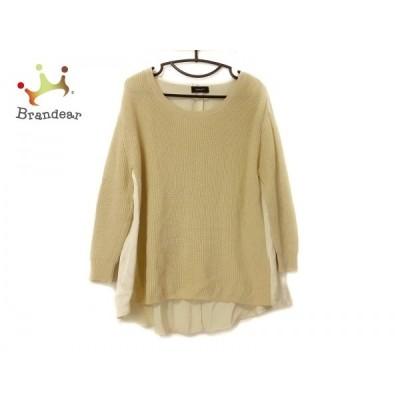 ジャスグリッティー JUSGLITTY 長袖セーター サイズ2 M レディース イエロー 異素材切替   スペシャル特価 20210106