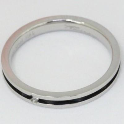サージカルステンレス316L肌に優しい医療用ステンレス素材のペアリング 天然ダイヤモンド入り 指輪 Sepia