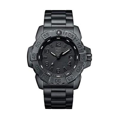 Luminox メンズ 腕時計 ネイビー シール スチール ブラックアウト (XS.3252.BO.L) 200M 防水 サファイアクリスタル スイス