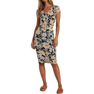 ビラボン BILLABONG レディース ワンピース ミドル丈 ワンピース・ドレス Dream On Floral Midi Dress Bml Black Multi