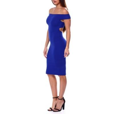 ファッションラボ Fashion Lab レディース パーティードレス ワンピース・ドレス s/l criss cross open back dress Royal