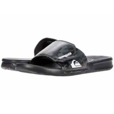 Quiksilver クイックシルバー メンズ 男性用 シューズ 靴 サンダル Bright Coast Adjustable Slides Grey/Black/Black【送料無料】