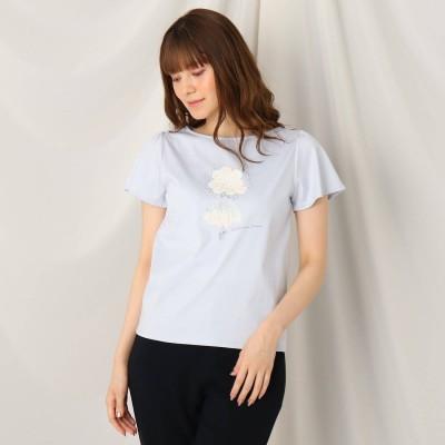 クチュール ブローチ Couture brooch バレリーナプリントTシャツ (サックス)