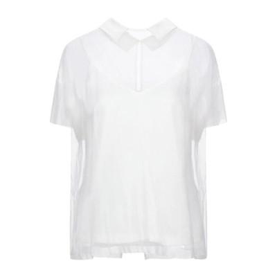PESERICO シルクシャツ&ブラウス  レディースファッション  トップス  シャツ、ブラウス  長袖 アイボリー