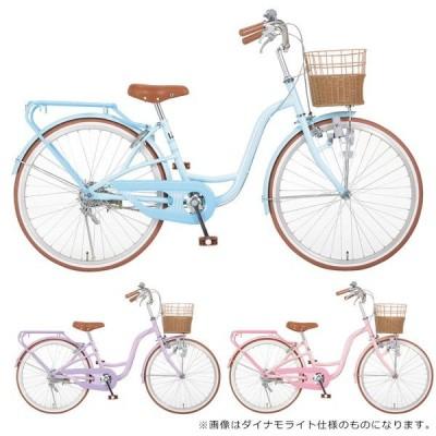 ((Xmas特典付))シルバーリング キュート 22インチ オートライト 変速無し SRC22-A/ 子供用自転車 ((中サイズ))